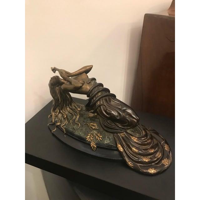 "Art Deco 1984 Erte Ltd Ed ""Perfume"" Bronze Sculpture by Romain De Tirtoff For Sale - Image 3 of 13"