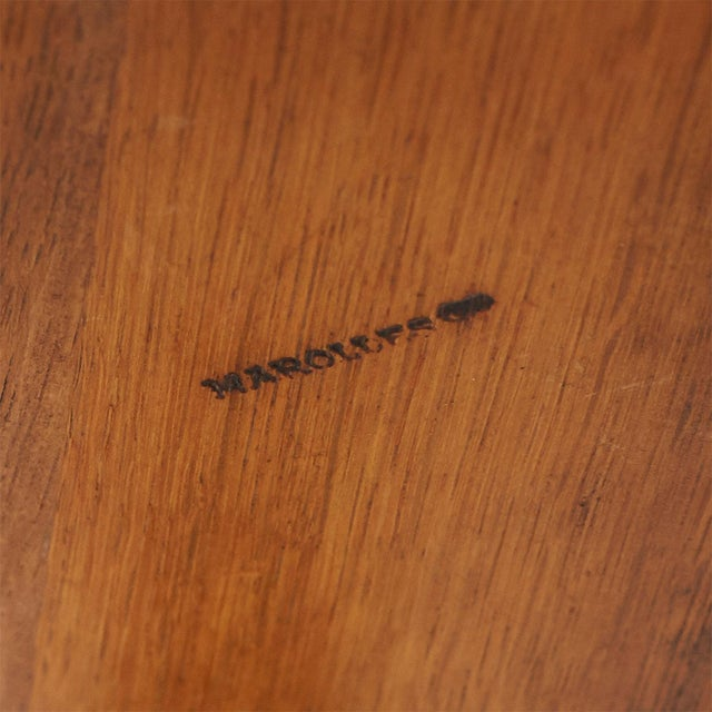 1950s Oak Stool by Jean Touret For Sale - Image 5 of 6