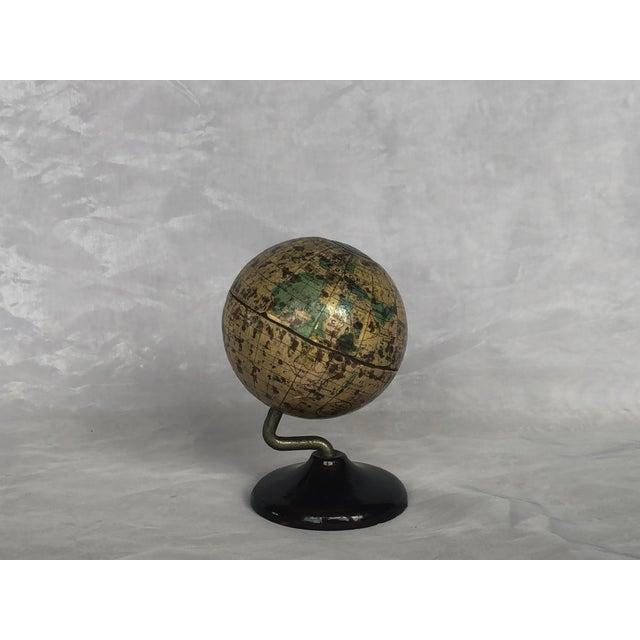 Vintage World Desk Globe Die Cast Metal Bank For Sale - Image 13 of 13