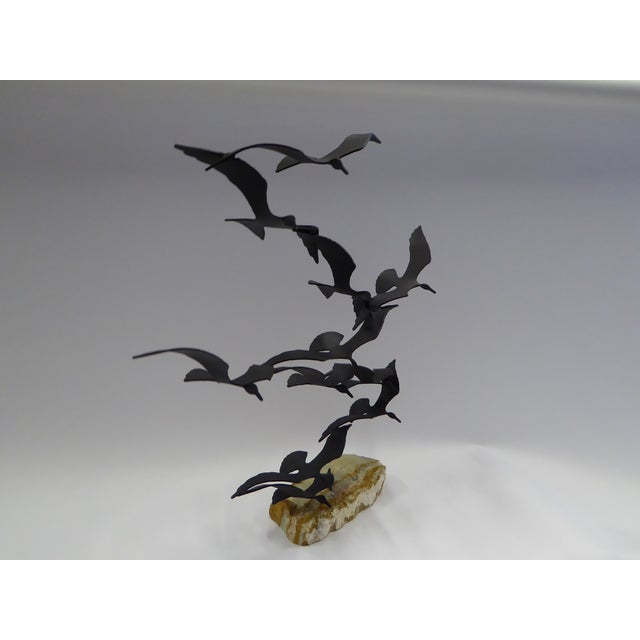 "Bijan ""Flock of Seagulls"" Kinetic Metal Sculpture For Sale - Image 9 of 12"