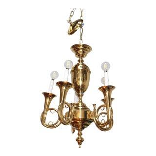 1970s Chapman Brass Chandelier For Sale
