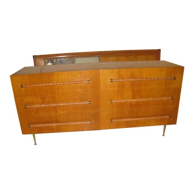 1950 Mid-Century T.H. Robsjohn-Gibbings Double Dresser - Image 1 of 10