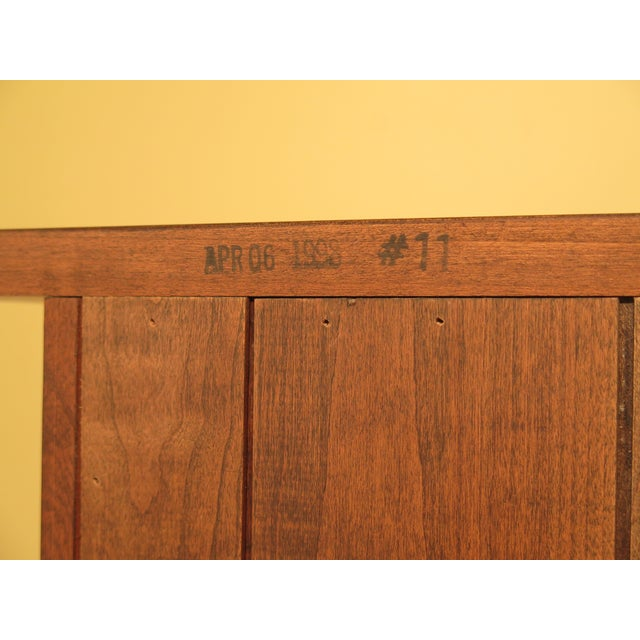 1980s Arts & Crafts Stickley Cherry Bookcase For Sale - Image 11 of 13