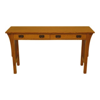 Stickley Mission Oak 2-Drawer Console Table For Sale