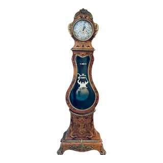 1980s Le Ore Franz Hermle Grandfather Clock, Made in Italy