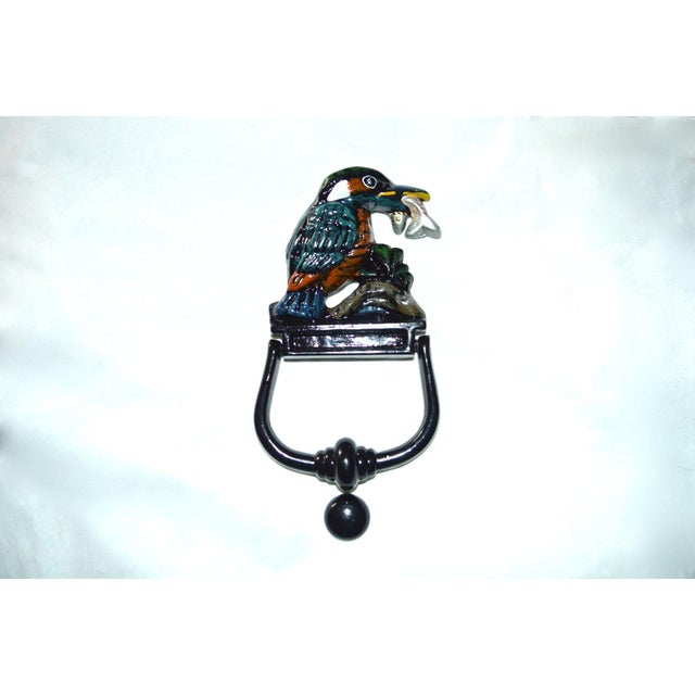 Kingfisher Painted Door Knocker For Sale - Image 4 of 8