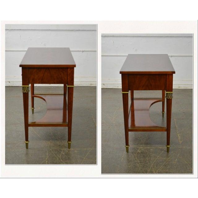*STORE ITEM #: 17419-fwmr John Widdicomb Neo Classical Style Bronze Mount 1 Drawer Console Table AGE / ORIGIN: Approx. 20...