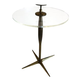 Stiffel 1950's Brass & Lucite Cigarette Table