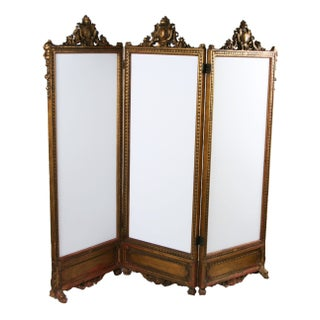 Antique French Screen Circa 1880 For Sale