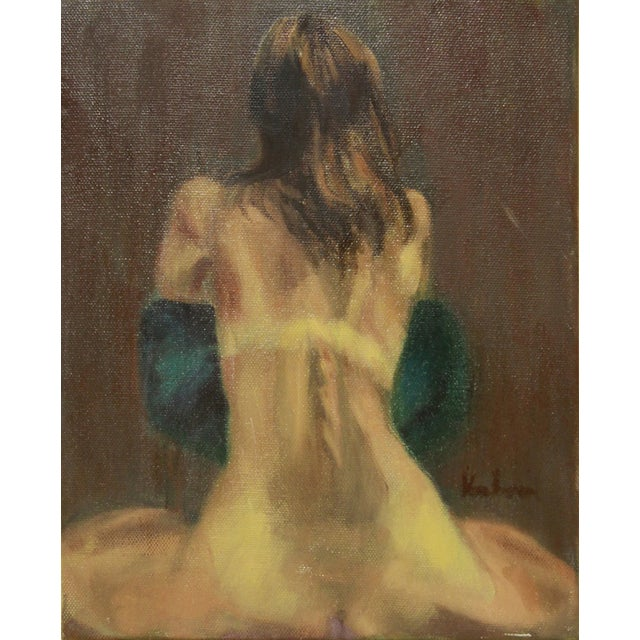 Tan-Lined Nude Painting - Image 1 of 2