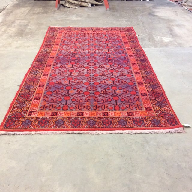 "Antique Chinese Khotan - 5'6""x 10'3"" For Sale - Image 4 of 13"