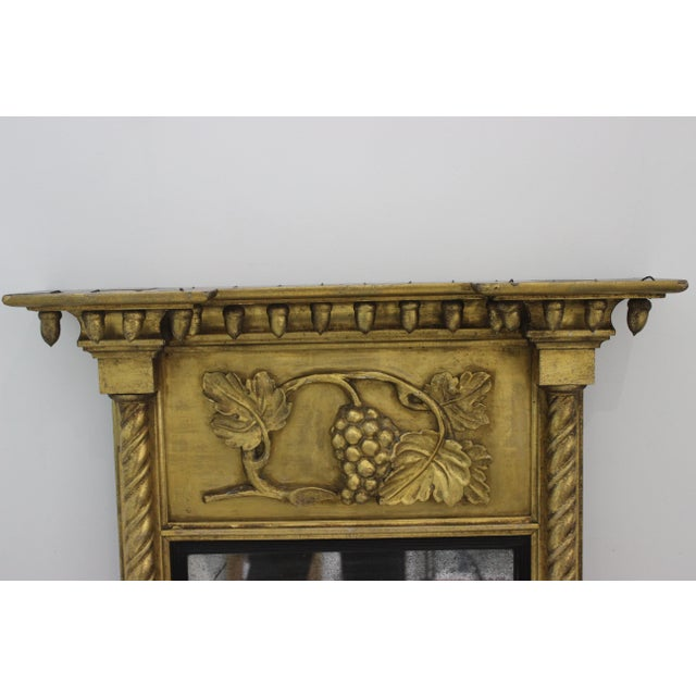 Neoclassical Giltwood 1860s Carved Neoclassical Mirror For Sale - Image 3 of 13