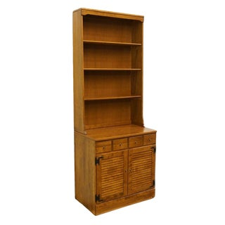 Ethan Allen Heirloom Nutmeg Maple Bookcase Top Shutter Door Cabinet For Sale
