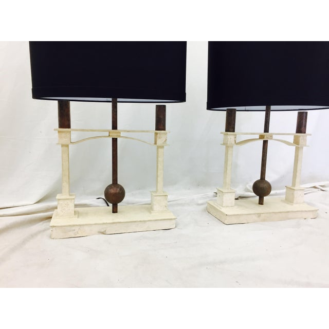 Vintage Mid-Century Modern Art Deco Lamps - a Pair - Image 3 of 10