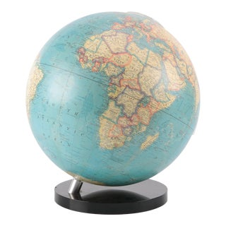 1960's Large Lucite World Globe For Sale