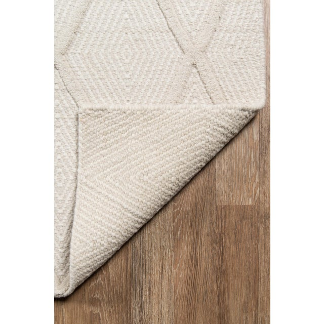 Erin Gates by Momeni Langdon Spring Beige Hand Woven Wool Area Rug - 5′ × 8′ For Sale - Image 5 of 7