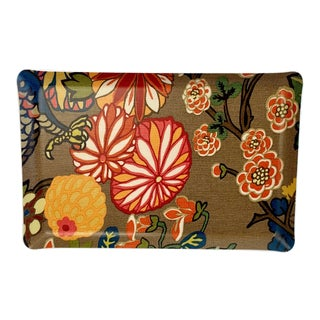F. Schumacher Chiang Mai Fabric Laminated Tray For Sale