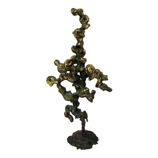 1970s Abstract Bronze Spill Cast Sculpture For Sale