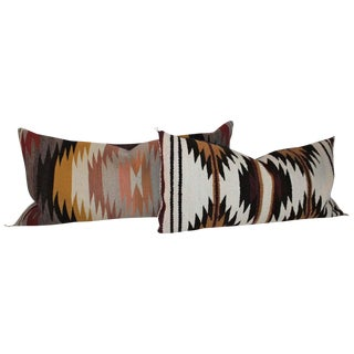 Navajo Indian Saddle Weaving Pillows - Set of 2 For Sale
