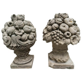 American Cast Stone Garden Statues - a Pair For Sale