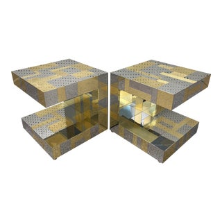 Paul Evans Cityscape Cantilevered End Tables - a Pair For Sale