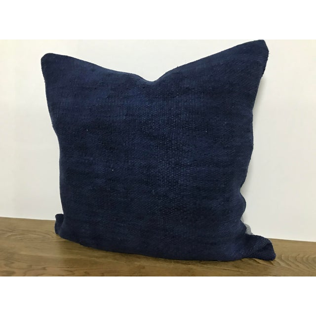 Modern Blue Modern Turkish Decorative Handmade Pillow Cover For Sale - Image 3 of 6