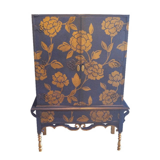 Blue and Gold Cabinet - Image 1 of 3
