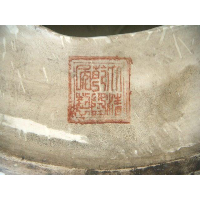 Chinese Rose Medallion Garden Seat, Gilt Top & Butterflies - Image 8 of 9