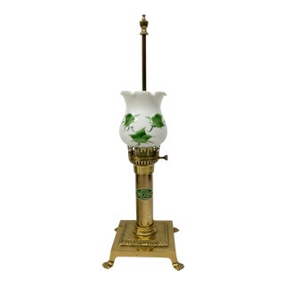 Vintage Paris Oriental Express Brass Table Lamp For Sale
