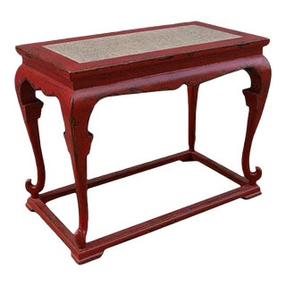 Vintage Red Serving Console For Sale