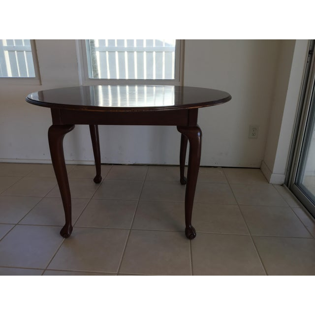 2000 - 2009 Round Pawfoot Table For Sale - Image 5 of 5