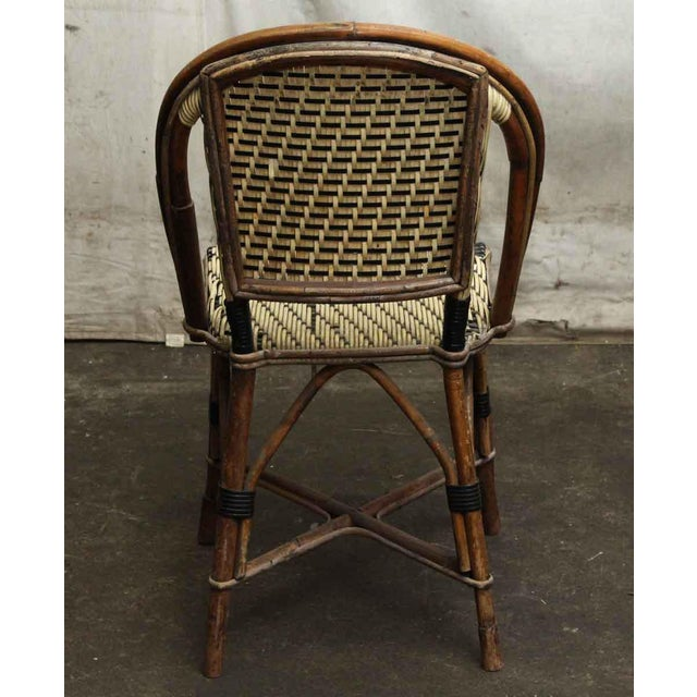 Wicker & Wood Frame Chair For Sale - Image 6 of 7