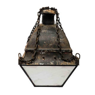 Lantern - 1950s Nautical Mid Century Hanging Lantern For Sale