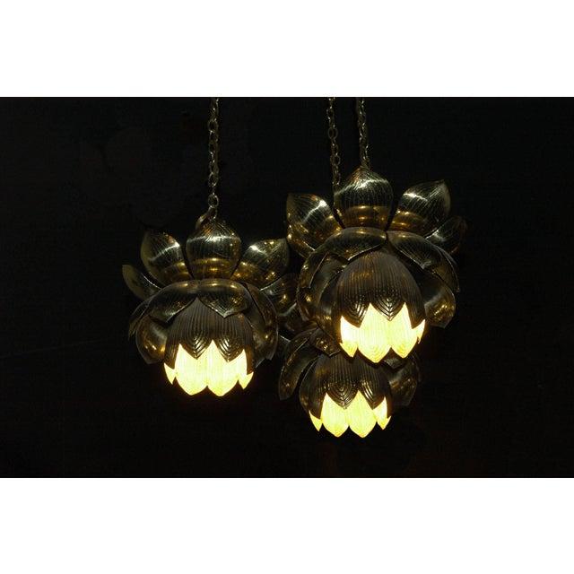 1960s 1960s Feldman Lighting Co. Mid-Century Lotus Pendant Chandelier For Sale - Image 5 of 8