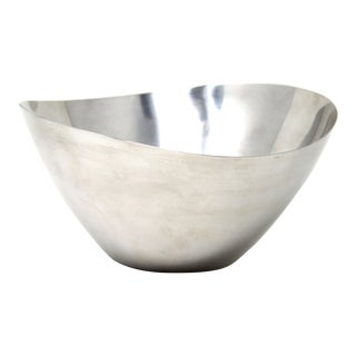 Mid Century Danish Modern Stainless Steel Serving Bowl For Sale