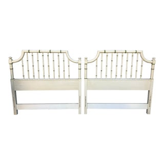 Thomasville Faux Bamboo Twin Headboards - a Pair For Sale
