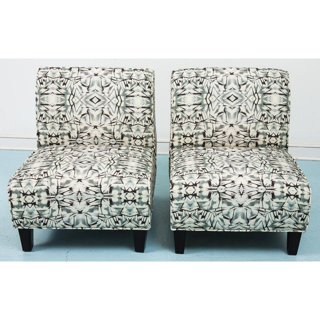 Modern Slipper Chairs - Pair - Image 3 of 5