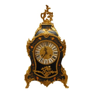Boulle Mantel Franz Hermle Floral Clock For Sale