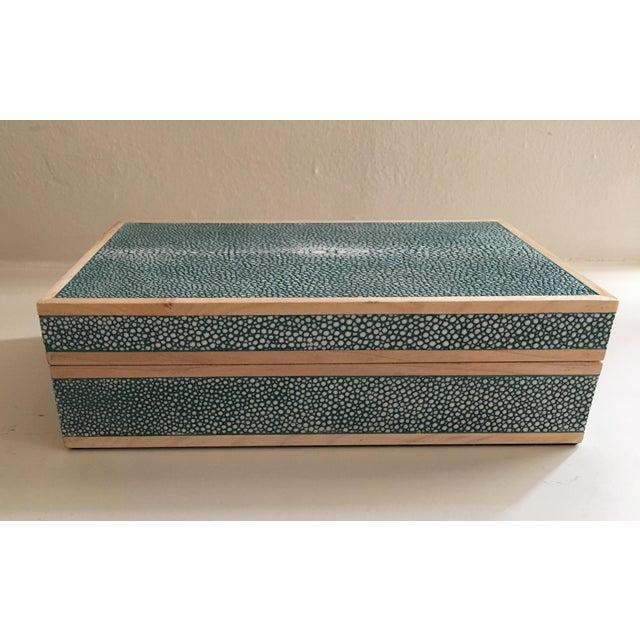 Teal Shagreen Treasure Box - Image 2 of 6