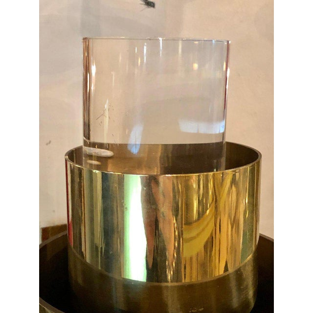 Pair of Mid-Century Modern Karl Springer Brass and Lucite Wall Sconces For Sale In New York - Image 6 of 12