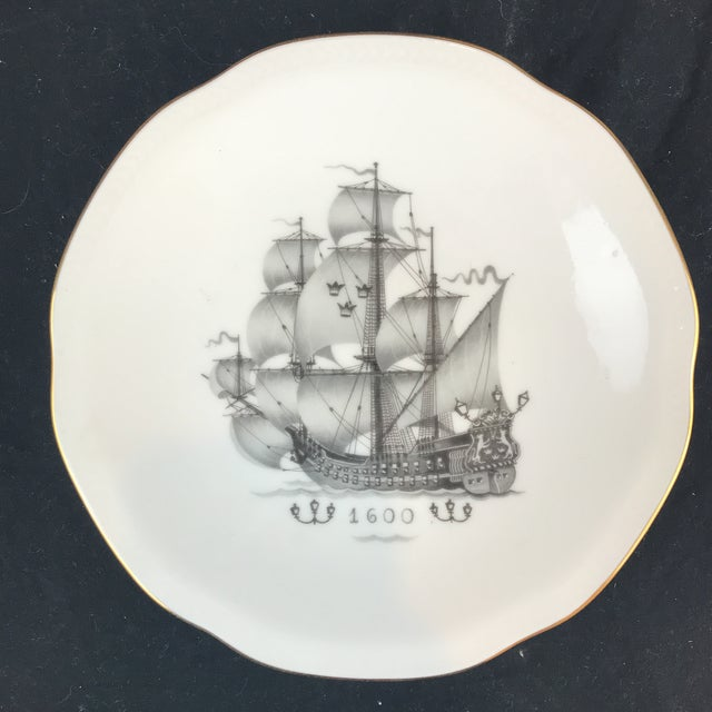 Rostrand Ship Porcelain Plates - Set of 11 For Sale In New York - Image 6 of 11