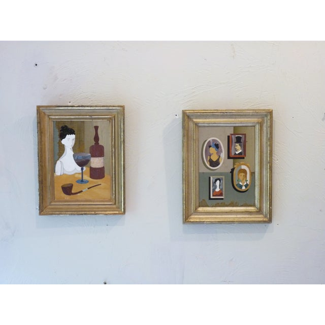 Pietra Dura Portraits - a Pair For Sale - Image 9 of 9