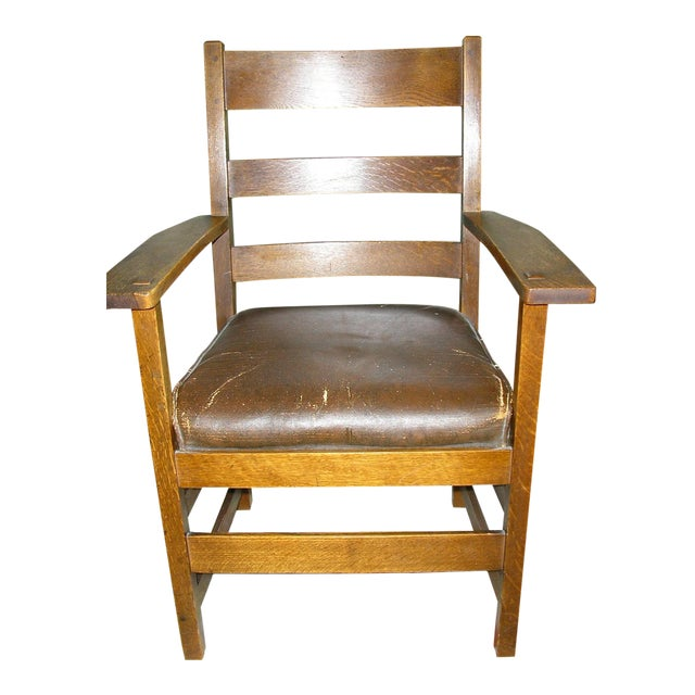 Early 20th-C. Stickley Dining Armchair - Image 1 of 5