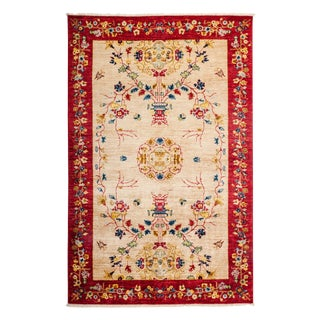 """Hand-Knotted Wool Rug - 5'2"""" x 7'10"""" For Sale"""