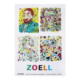 Paris Solo Exhibit 1984 Zoell Poster