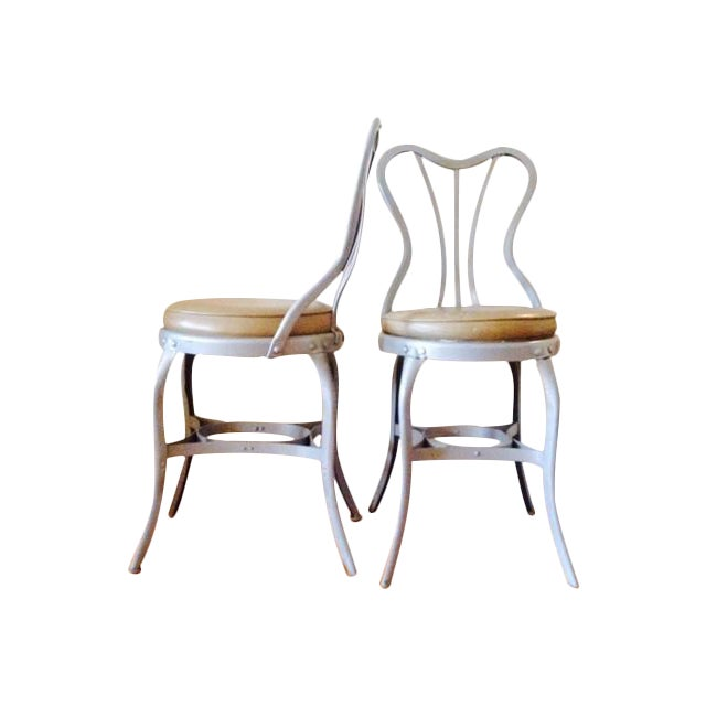 "Toledo ""Uhl Art Steel"" Chairs - Pair - Image 1 of 4"