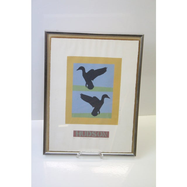 Mid 20th Century Abstract Flying Ducks Print For Sale - Image 5 of 6