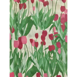 In Bloom Fabric in Spinel Red, 5 Yards For Sale
