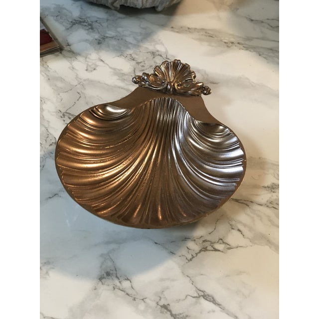 1940s 1940s Rose Gold Shell Baptism Tray/Catchall For Sale - Image 5 of 6