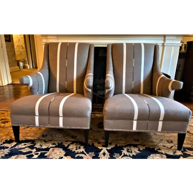 Hans Wenger Style Contemporary Armchairs - a Pair For Sale - Image 11 of 11
